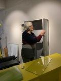 een vitrinekast voor Vincent artikelen