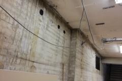 de betonnen buitenwand ziet er nog niet uit!